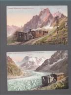 Haute Savoie - Chemin De Fer Chamonix Montanvert , Bon Plan - Lot De 2 CP - Non Classificati