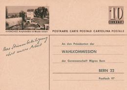 Entier Postal Suisse - Avenches - Amphithéâtre Et Musée Romain - Etat Bon Mais Mini Déchirure En Haut - Ganzsachen