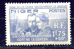 Niger**  N°  63 - P Et M Curie; ( + Value) - Unused Stamps