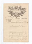 CASTRES (TARN) LETTRE MILITAIRE A ENTETE DU 3 E REGIMENT D'ARTILLERIE 3 E BATTERIE 16 E CORPS D'ARMEE ..1894 - Historical Documents