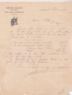 Lettre Facture 26/2/1919 Adrien GLEIZES Boucher LA SALVETAT Hérault - 1900 – 1949