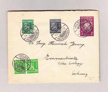 Finnland HELSINKI 14.4.1937 Brief Nach Emmenbrücke - Finlande