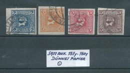 SATZ ANK.157y - 160y Dünnes Papier Gestempelt Siehe Scan - 1850-1918 Empire