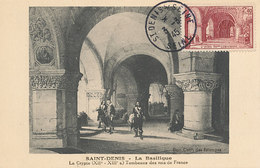 D27104 CARTE MAXIMUM CARD 1945 FRANCE - SAINT DENIS CRYPTE TOMBS OF THE KINGS OF FRANCE CP ORIGINAL - 1940-49