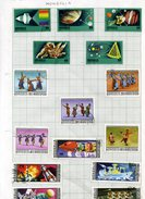 MONGOLIA - PAGE Of 10 SPACE + 5 COSTUMES  FINE USED - Mongolie