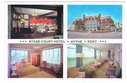 RB 1130 -  Multiview Postcard - Stade Court Hotel - Hythe Kent - England
