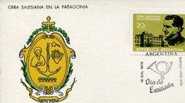 TARJETA ESCUDO OBRA SALESIANA EN LA PATAGONIA REPUBLICA ARGENTINA  ZTU. - Argentine