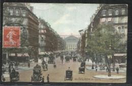 CARTOLINA 1909 PARIS AVENUE DE L´OPERA CARD CARTE POSTALE - Places, Squares