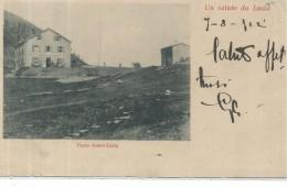 GIL150 - UN SALUTO DA LUSIA - PASSO SOMM-LUSIA - FORMATO PICCOLO - VIAGGIATA 1902 - Italien