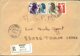 FRANCE - Enveloppe Voyagée En Poste Navale - Détaillons Collection - A Voir - Lot N° 20689 - Postmark Collection (Covers)