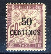 Marocco Tasse 1896 N. 4 C. 50 Su C. 50 Violetto, Valori In Centimos MLH Catalogo € 36 - Postage Due