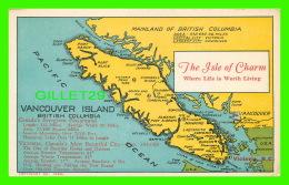 MAP - CARTE GÉOGRAPHIQUE - THE ISLE OF CHARM, VANCOUVER ISLAND BRITISH COLUMBIA - - Cartes Géographiques