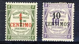 Marocco Tasse 1909 - 10 N. 6-7 Valori In Centimos MLH Catalogo € 48 - Postage Due