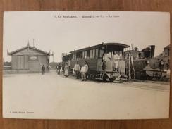 Gosne.la Gare Avec Le Tramway à Vapeur.édition Sorel.rare - Other Municipalities