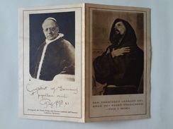 D614 - Santino San Francesco Di Assisi Pellegrinaggio Spirituale Dei Cattolici Italiani - Images Religieuses
