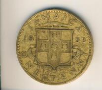 Jamaica V. 1953  One Penny  (49159) - Jamaica
