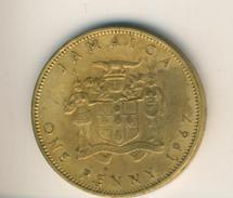 Jamaica V. 1967  One Penny  (49158) - Jamaica