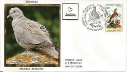 ANDORRA. Perdrix Blanche ,  Beau FDC D'Andorre,