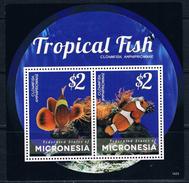 Bloc Sheet Poissons Tropical Fish Neuf MNH ** Micronesia 2014 - Pesci