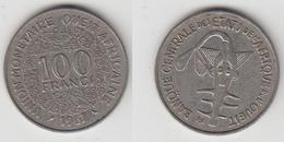 BANQUE CENTRALE DES ETATS DE L'AFRQUE DE L'OUEST - 100 FRS 1967 - Centrafricaine (République)