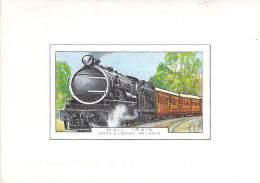 TRAINS ( Africa  : KENYA & UGANDA ) : Mail Train - Kenya & Uganda Railways ( Illustration ) Zug Trenes Treni - Trenes