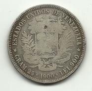 1900 - Venezuela 5 Bolivares, - Venezuela