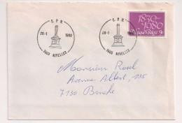 BRIEF LETTRE COB 1961 Seul Alleen NIVELLES - Covers & Documents