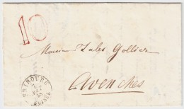 "1858, Tax-Stp. "" 10 "", #6637 - Poststempel"