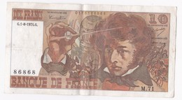 10 Francs Berlioz 1 8 1974 Alphabet M.71 N° 86868 - 1962-1997 ''Francs''