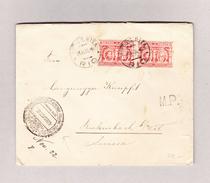 Brasilien RIO 23.11.1922 Brief Nach Rickenbach SG Vermerk MP Und Loydd Italiano Stempel - Lettres & Documents