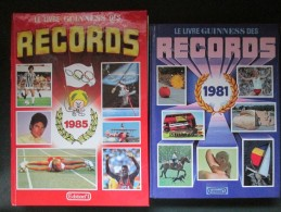 LIVRE DES RECORD ANNEE 1981 ET 1985 .TRES BON ETAT - Encyclopaedia