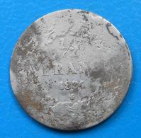 Belgique Belgium 1/2 Franc Argent 1834 Km 6 - 1831-1865: Leopold I