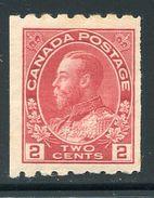 Canada  Sc# 124  (*)   VLH   1912 - Neufs