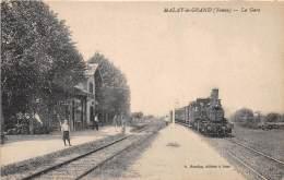 89 - YONNE - Gares Et Chemin De Fer / Malay Le Grand - La Gare - Beau Cliché Avec Train En Gare - Autres Communes
