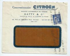 France.Enveloppe Publicitaire Citroën De Saint Etienne (Loire) - Storia Postale