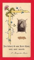 -- SAINTE MARGUERITE MARIE - Avec RELIQUE - BOIS DE NOISETIER DE L'APPARITION - PARAY Le MONIAL -- - Images Religieuses