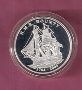 IVOORKUST 1000 FRANCS AG PROOF 2008 H.M.S. BOUNTY NOT IN KRAUSE MISHLER (SCRATCHES ONLY ON CAPSEL) SCHIP SHIP - Côte-d'Ivoire