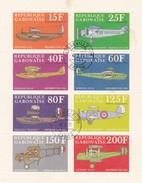 Klein Blaadje - Petite Feuillet : 8 Zegels Poste Arienne 1971 VLIEGTUIGEN - Gabon (1960-...)