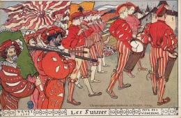 Fêtes Vignerons En 1905 (tous Les 25 Ans Seulement) à Vevey (Suisse). 5 Cartes Oblitérées De 1905 - Vignes