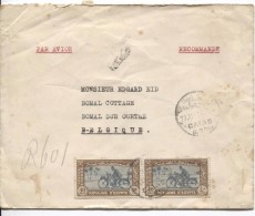 Egypt Registered Air Mail Cover Written From Heliopolis Expres Stamps Postman +Motorcycle C.Cairo 27/6/1947 To Belgium - Égypte
