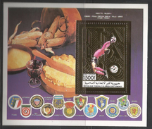 1990 Comoros World Cup Football Italy Pasta Food Italy Set Of 2 Souvenir Sheets MNH - 1990 – Italien