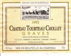 Étiquette   - GRAVES - Château Tourteau Chollet - Labels