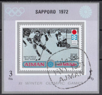 Ajman 1971 Mi. 765B Martin Schröttle Oro Lake Placid 1932 Hockey Su Ghiaccio (Sapporo '72) Nuovo Preobliterato - Winter 1932: Lake Placid