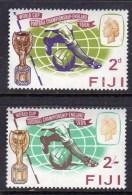 FIJI - 1966 WORLD CUP FOOTBALL CHAMPIONSHIP SET (2V) FINE MNH ** SG 349-350 - Fiji (...-1970)