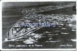 61971 PERU LIMA VISTA PANORAMICA DE LA PUNTA CIRCULATED TO ARGENTINA POSTAL POSTCARD - Peru