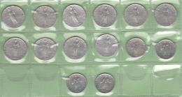 10 + 5  Lire Vaticano Lotto 14 Monete - Vaticano (Ciudad Del)