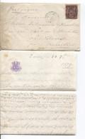 TP 91 Type Sage S/L.c.Paris 24/9/1879 Ambulant France Midi 1 25/9 V.Vilvorde Via BXL C.d´arrivée Vilvorde 25/9/1879 - Marcophilie (Lettres)