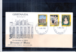 FDC Grenada - 21st. Birthday Of Princess Of Wales - Diana - 1982 - Complete Set - Grenade (1974-...)