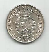 Mozambique 2 1/2 Escudos 1942. KM#68 Silver Ag Argent - Mozambique