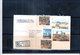 Registered Cover From Zambia To England - 1979 (to See) - Zambie (1965-...)